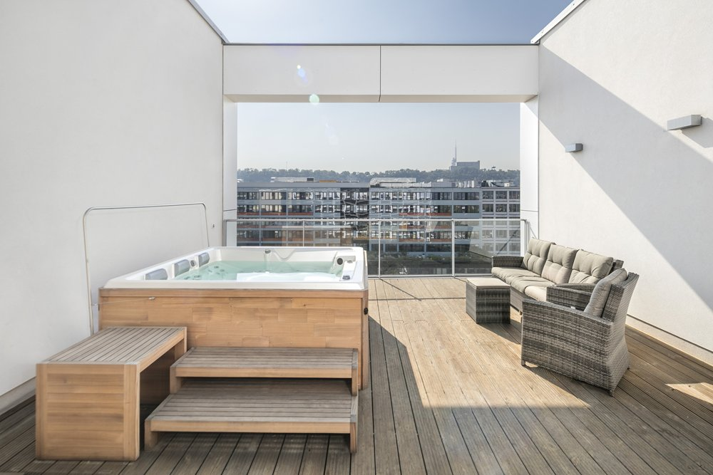 Home Spa Projekt Dachterrasse mit Persea iN